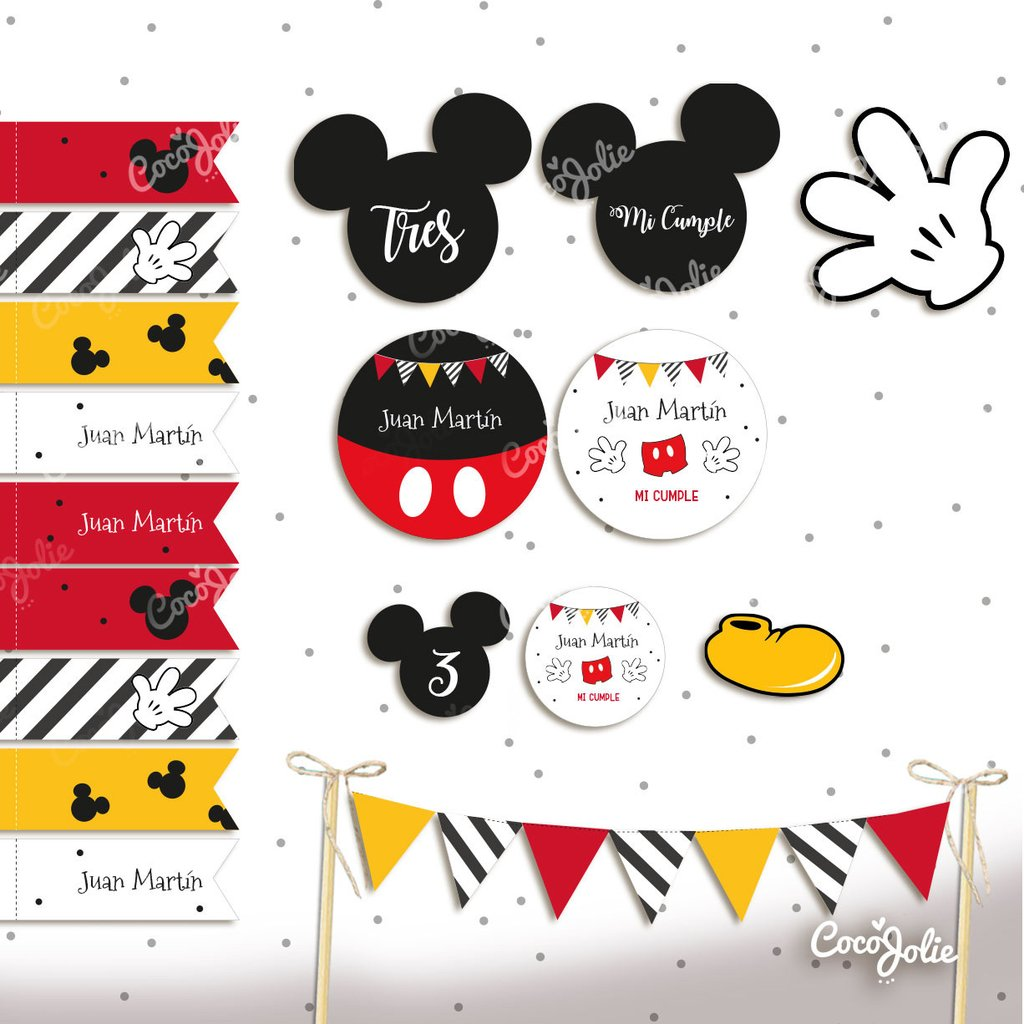 Kit Imprimible Mickey Mouse. Personalizable