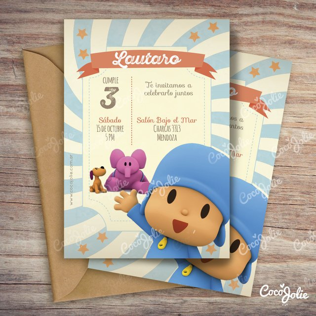 Kit Imprimible Personalizable Pocoyo Sin Candy Bar