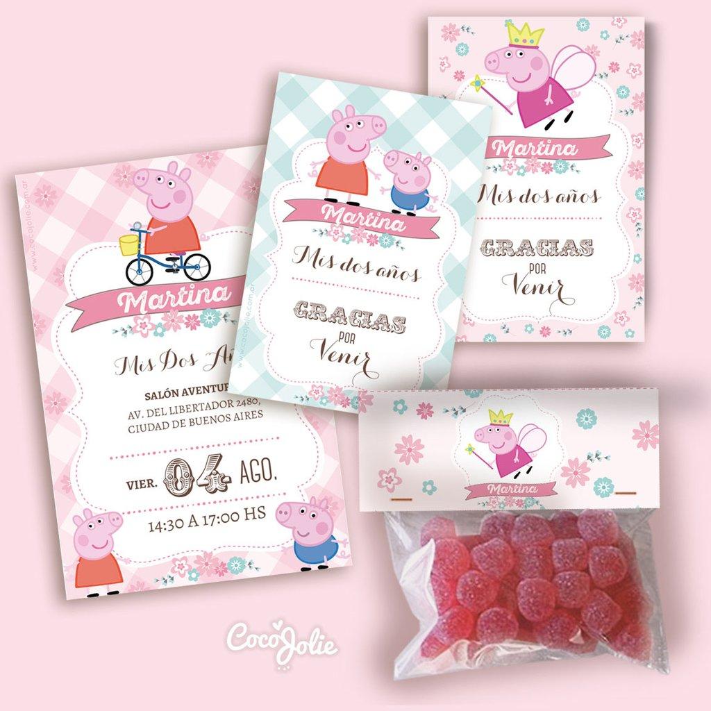 Peppa Peppa Personalizable Pig Kit Kit Pig Imprimible Personalizable Imprimible wkOZiuTPX