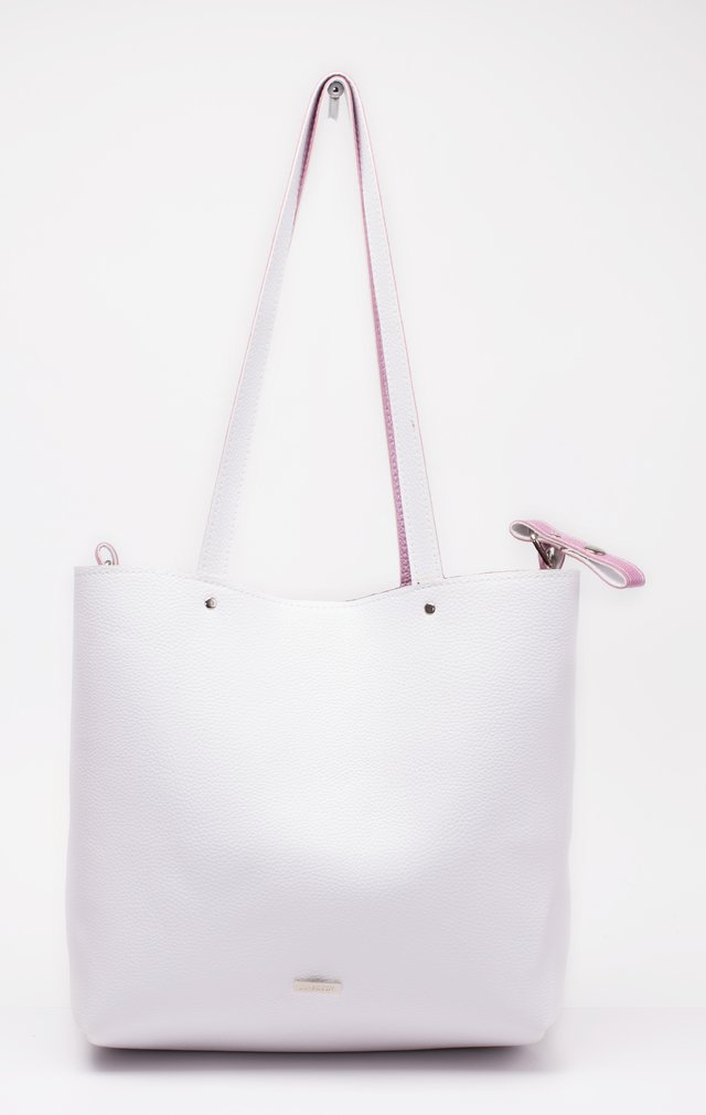 Bolso Twins Rosa Metal & Natural REVERSIBLE - comprar online