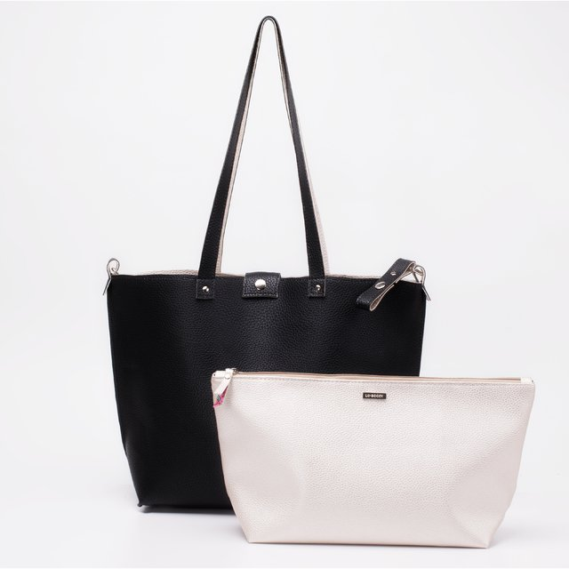 Bolso Twins Negro & Champagne  REVERSIBLE