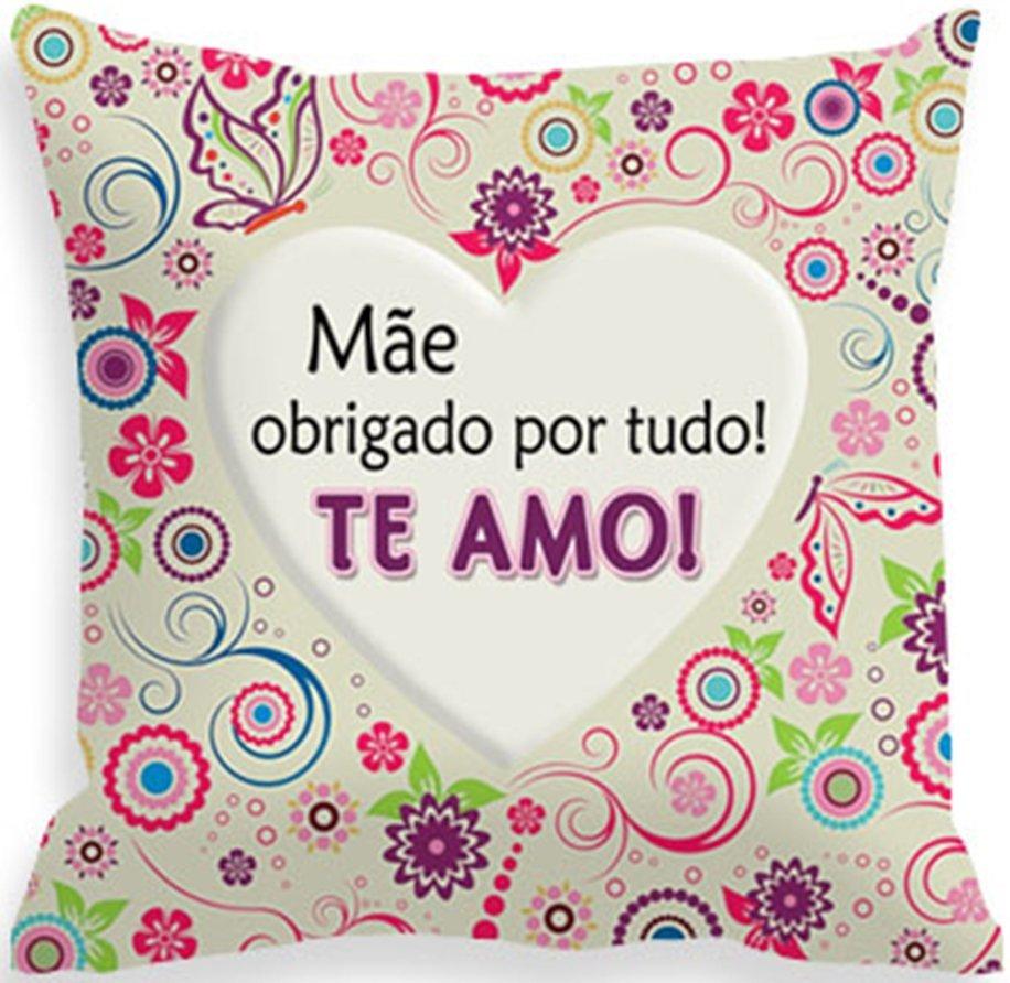cd61630115edb5 Capa Almofada Mãe Obrigado por Tudo, Te Amo
