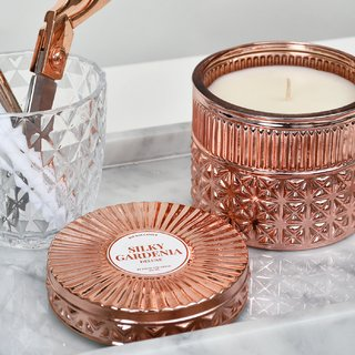 Copper Deluxe Candle: Smells like Silky Gardenias - comprar online