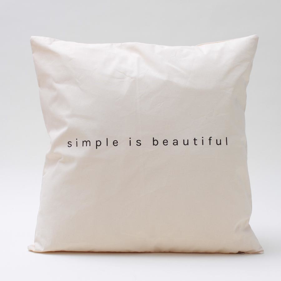Almohadon Simple Is Beautifull