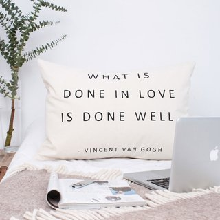 Almohadón 70x50 What Is Done In Love - comprar online