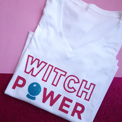 Remera Witch Power Blanca - JARANA Accesorios Textiles