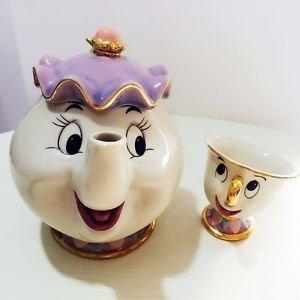 Taza Y Tetera La Bella Y La Bestia Disney Sra Potts Y Chip - Disney