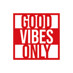 Adesivo Frase - Good Vibes Only na internet