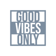 Adesivo Frase - Good Vibes Only