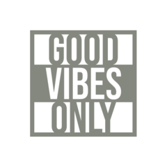 Adesivo Frase - Good Vibes Only - comprar online