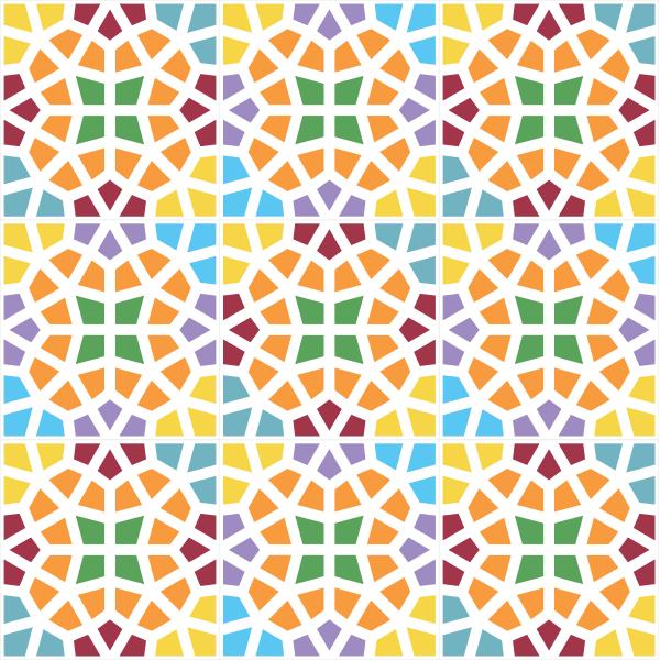 Adesivo de azulejo mosaico colorido for Azulejo mosaico