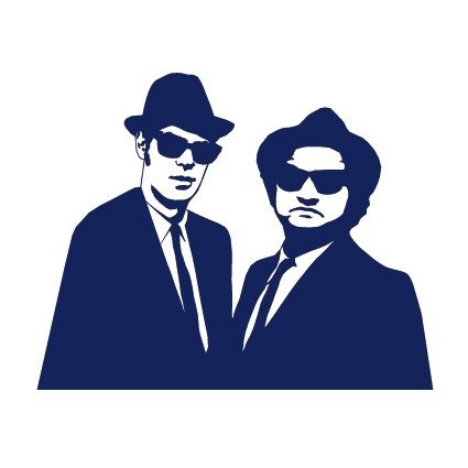 Adesivo de Parede Blues Brothers na internet