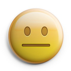 Boton Emoji Neutral Face
