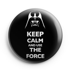 Boton Keep Calm Darth Vader