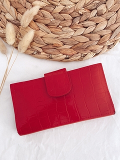 BILLETERA PLEATS ROJO