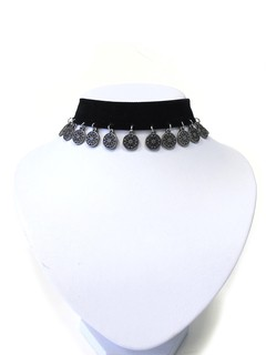 Collar chocker con monedas - comprar online