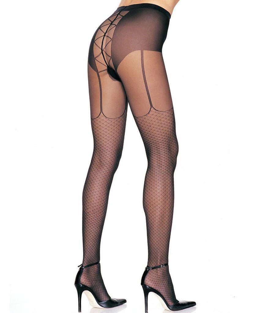 ef5d9f0c3 Meia-calça com desenho tipo arrastão - Vanilla Femme
