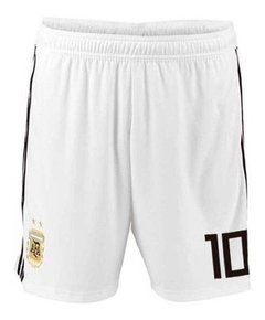 Short de Argentina blanco  #10 Messi