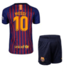 Kit de niño Barcelona 2018 con short de Messi #10