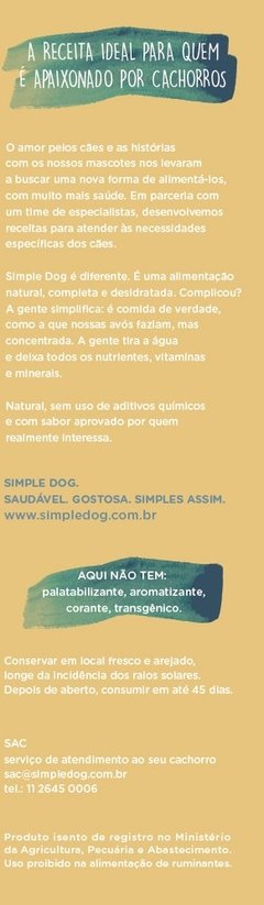 Simple Dog Frango 1,8 kg