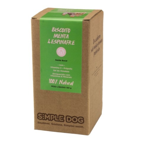 Biscoito Simple Dog Menta e Espinafre