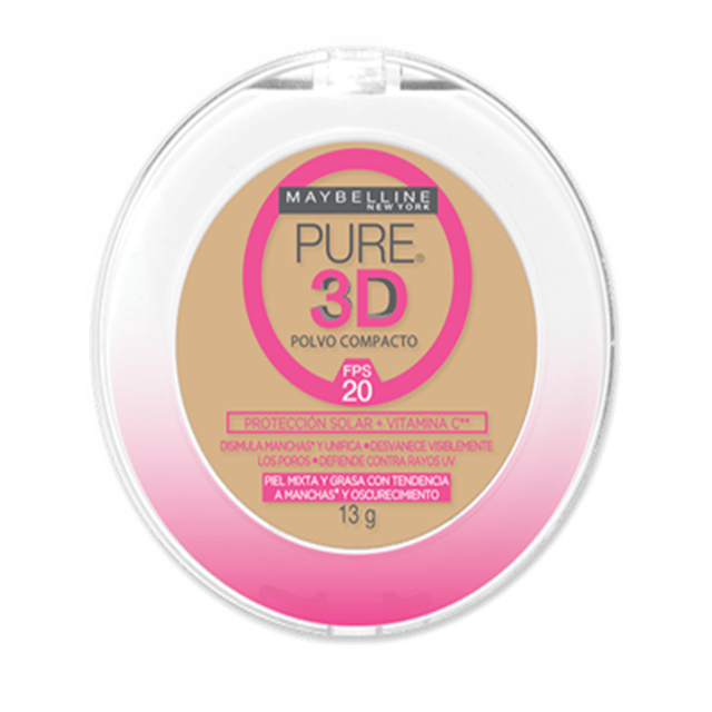 Maybelline polvo compacto pure 3D