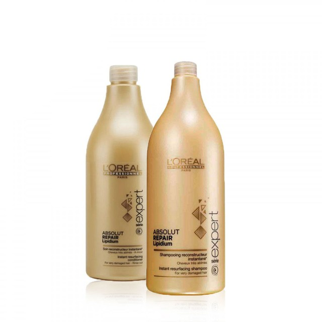 Combo Shampoo1.5 ml + Acondicionador Absolut Repair Loreal X 750ml