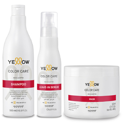 Yellow combo color care shampoo x500ml + Mascara x500ml+ leave in x125ml
