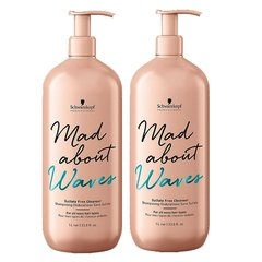 Combo Schwarzkopf Mad about waves shampoo 1000 mlmas acondicionador 1000 ml