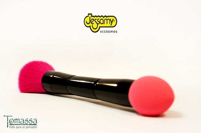 Pincel doble sponja mas brocha,  blending brush sponge Jessamy - comprar online