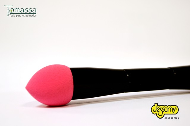 Pincel doble sponja mas brocha,  blending brush sponge Jessamy - Tomassa