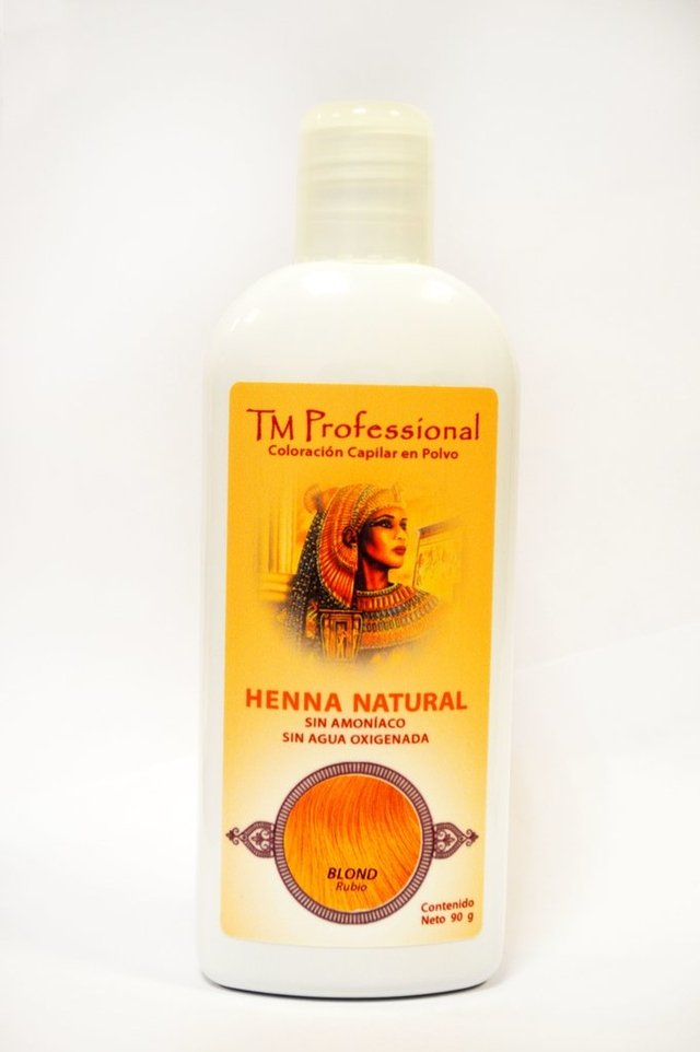 Henna natural TM Professional, Coloracion capilar 90gms