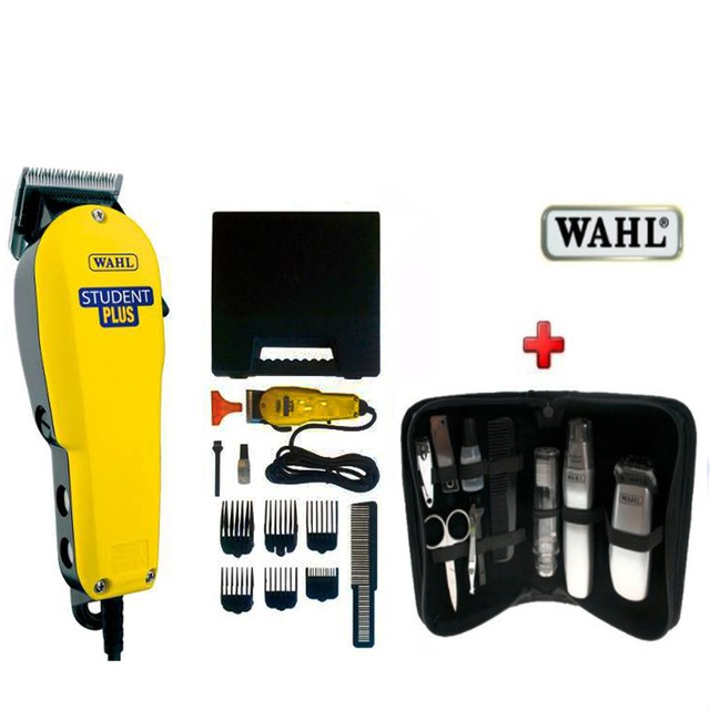 kit profesional  wahl Máquina Cortar Pelo Wahl Student Plus (usa) +Kit Travel Gear