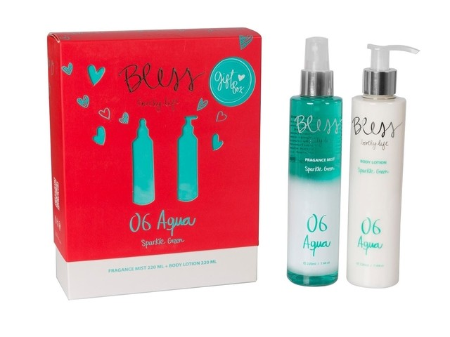 Gift Bless Sparkle green fragance mist 220ml + body lotion 220ml