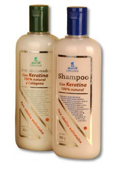 Aurill shampoo con keratina 100% natural 375 ml