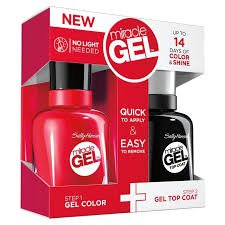KIT SALLY HANSEN MIRACLE GEL ESMALTE + TOP COAT