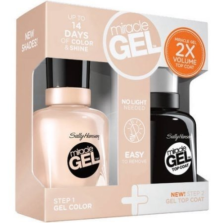 KIT SALLY HANSEN MIRACLE GEL ESMALTE + TOP COAT en internet