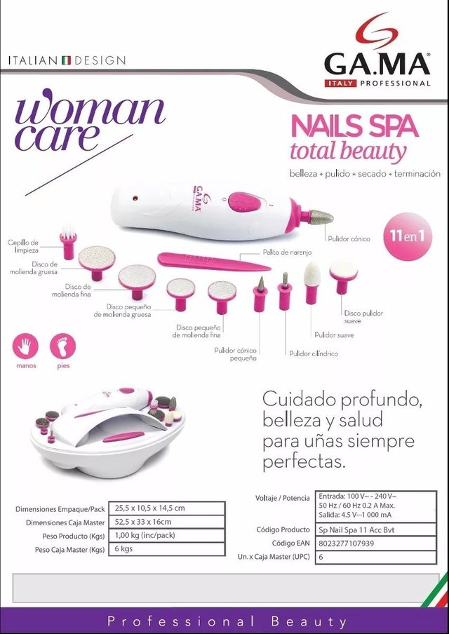 GAMA spa total beauty manos y pies 11 en 1 - comprar online