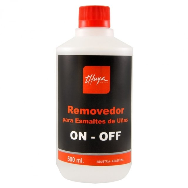 Removedor para esmaltado semipermanente Gel On Off Thuya x 500ml