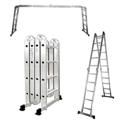 ESCALERA DE ALUMINIO PLEGABLE ARTICULADA MULTIFUNCION - 4,75 MTS