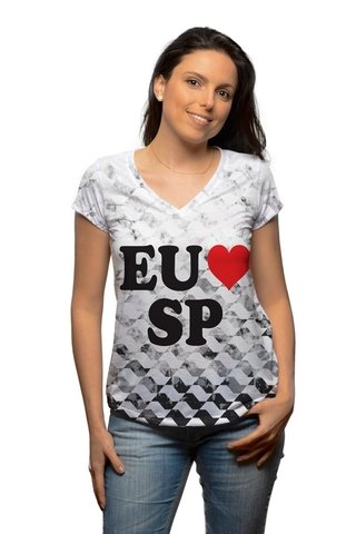 T-shirt Eu Amo SP VISTA SAMPA
