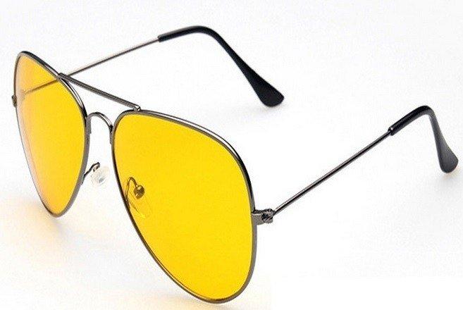 Oculos De Sol Amarelho Para Uso Noturno E Esportes e47db7c283