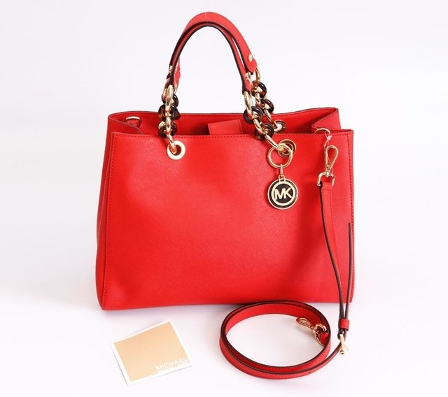 Bolsa Michael Kors Shopping Tote Jet Set Coral na internet