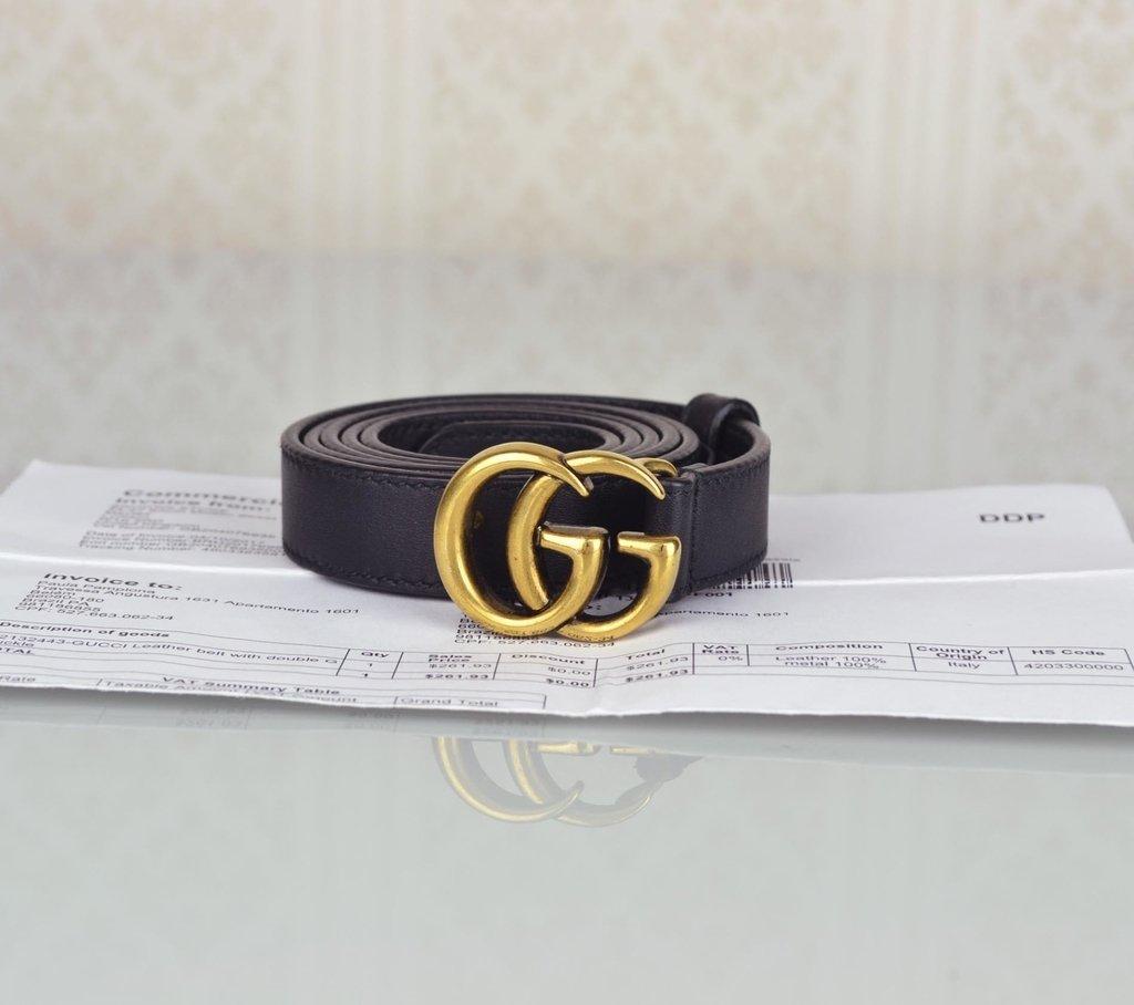 ... Cinto Gucci Double G Buckle 90 36 - comprar online ... 904023e65e