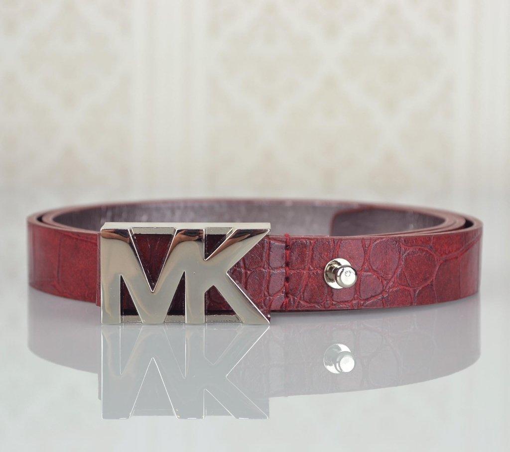 b52746a7d Cinto Michael Kors MK Logo Croco 85