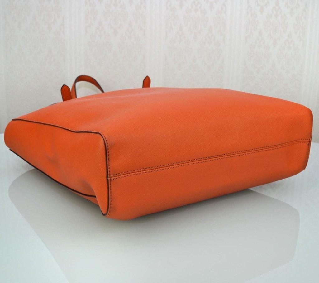 c5098e1f8 ... loja online; Imagem do Bolsa Michael Kors Couro Laranja Shopping Tote  ...