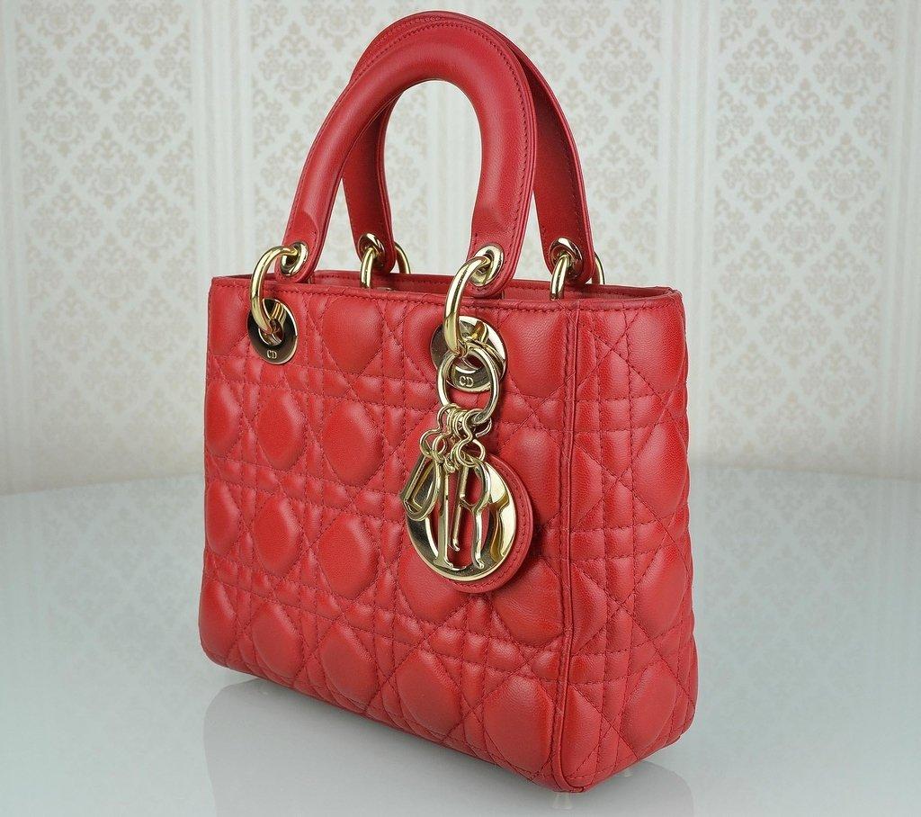 ... Bolsa My Lady Dior Vermelha na internet ... 73fbeb5114