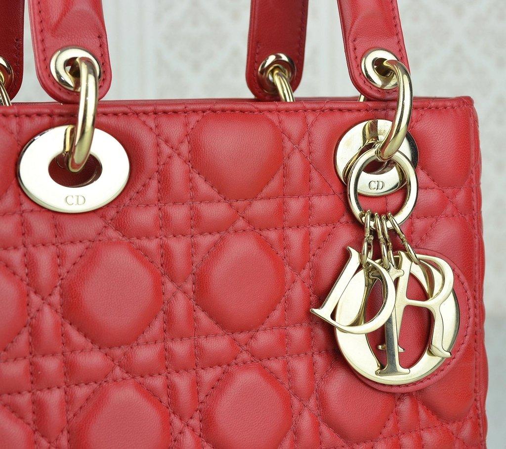 ... Bolsa My Lady Dior Vermelha - loja online ... 73e0710a1f