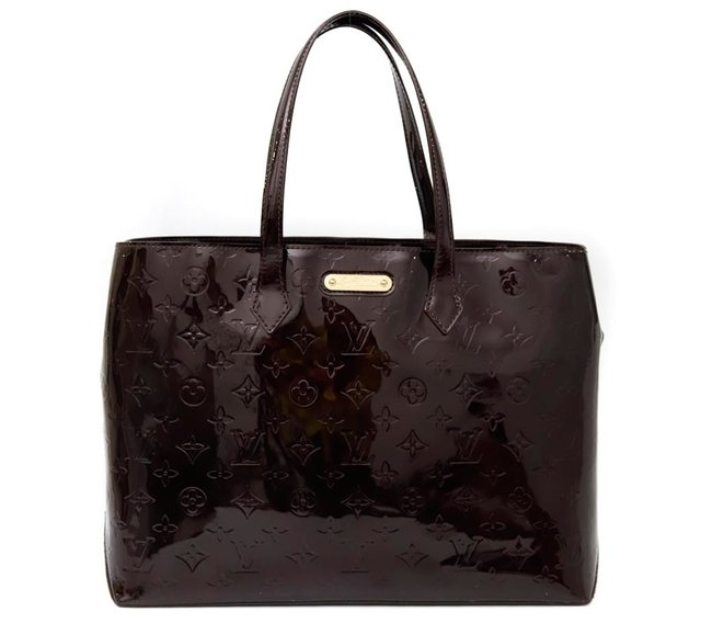 Bolsa Louis Vuitton Monogram Vernis Wilshire MM