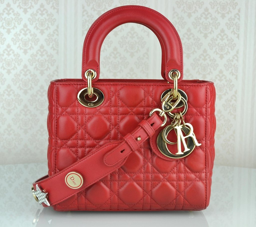 be6f1aa6a57 Bolsa My Lady Dior Vermelha